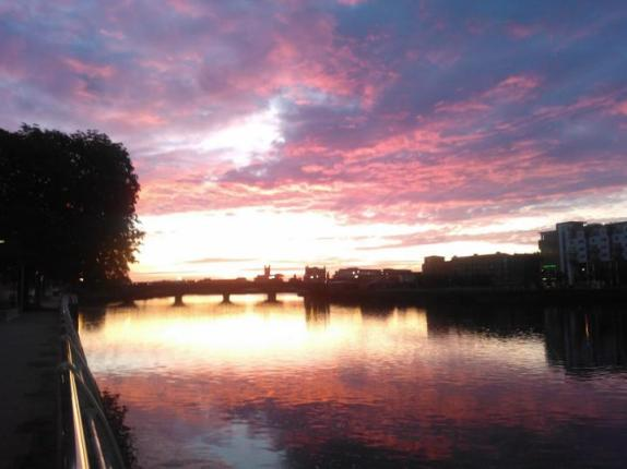 Dawn over the River Shannon
