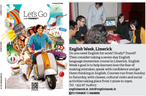 English Week is Coming Soon to an Airline Magazine Near You!